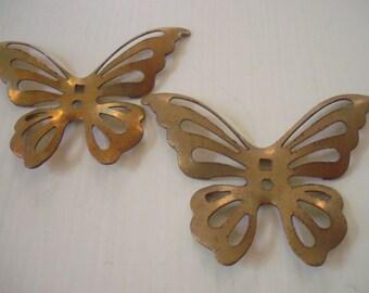 Vintage Metal Butterfly Findings