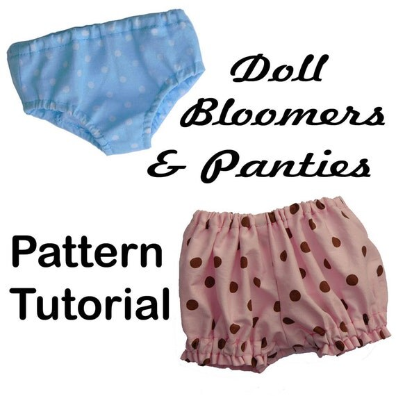 18 inch American Girl Doll Clothes PANTIES & BLOOMERS pattern  PDF Easy Sew Accessories