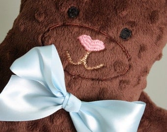 Baby's First Teddy Bear - Stuffed Bear For Girl or Boy - Free Personalization with name