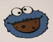 Set of (10) Cookie Monster Invitations