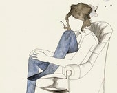 Girl In Chair 2 5x7