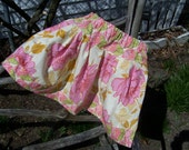 Pink Floral Twirl Skirt with matching Tee Size 7