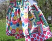 Faux Madras Apron Twirl Skirt Size 7/8