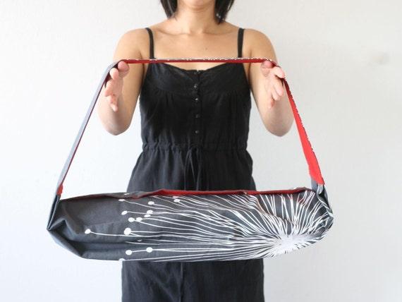 The Urban Yogi Yoga Mat Bag - Charcoal Burst & Fire