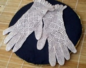 Vintage Crocheted Gloves -  free shipping  (no 20)
