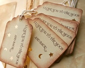 I Love You To The Moon And Back Handmade Gift Tags