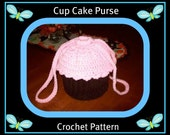 Large Cup Cake Purse Crochet Pattern