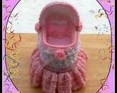 Bassinet Trinket Or Gift Box.Crochet Pattern