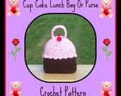 Cup Cake Lunch Bag Or Purse Crochet Pattern