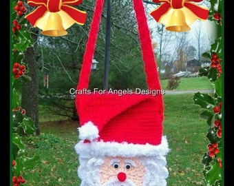 Santa Purse Crochet Pattern.This Is Not A Flat Purse.