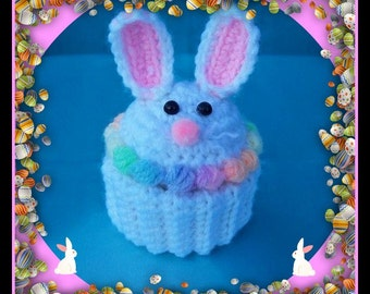 Bunny Cup Cake Gift Box Crochet Pattern