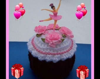 2 Ballerina Cup Cake Gift Box Crochet Patterns