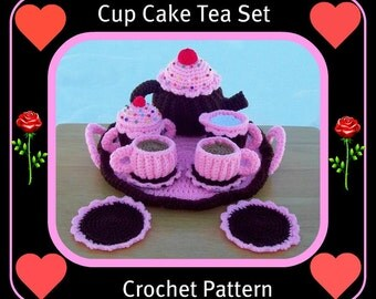 Cup Cake Teapot Set Crochet Patterns