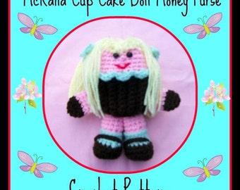 McKaila Cup Cake Doll Money Purse.Crochet Pattern