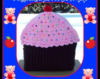 Cup Cake Back Pack Crochet Patterns.3 Different Sizes For You To Make.