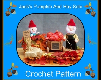 Jack's Pumpkin And Hay Sale Crochet Pattern