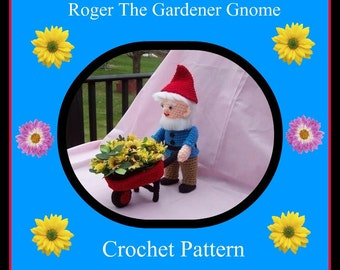 Roger The Gardener Gnome. Crochet Pattern