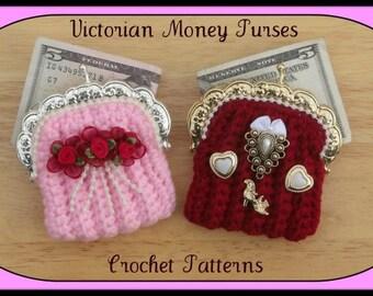 Victorian Money Purses.Crochet Patterns.