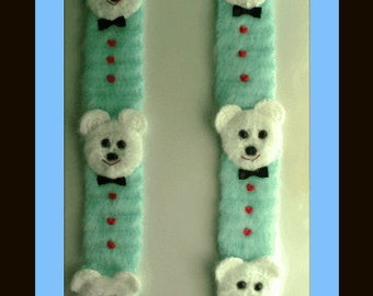 Beary Sweet Scarf Crochet Pattern.For Boy Or Girl Can Be Made In Any Size.