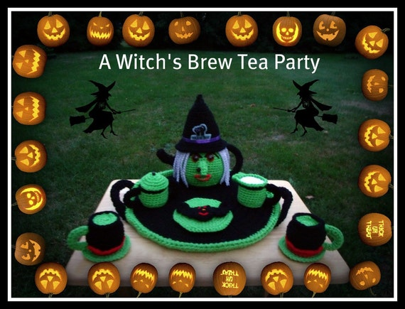 Witch's Brew Tea Party With Bat Cookies by craftsforangels
