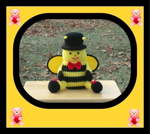 Mr Bee Trinket , Candy / Gift Box Doll Pattern
