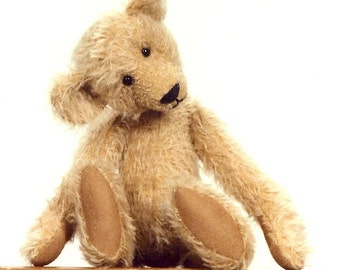 Digital PDF Tiny Ted 9 Inch Fully Jointed Artist Teddy Bear E-Pattern, Instant Download