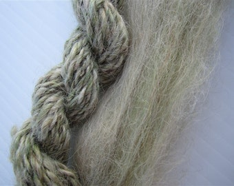 Suri Alpaca Roving - Confetti in Sage