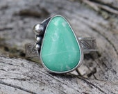 Sterling silver and variscite ring