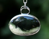 Sterling pendant with jasper - Stormy Sea