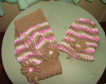 Child Hat and Scarf Set
