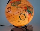 Vintage Light Up World Globe - MOD - Danish Modern - Lucite Stand - Circa 1980