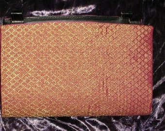 Hot Pink and Gold Sari Magnetic Purse Cover