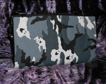 Black and Grey Camoflauge Ghost Magnetic Purse Cover