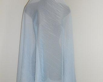 Silvery Pale Blue 3 Yard Chiffon Bellydance Veil