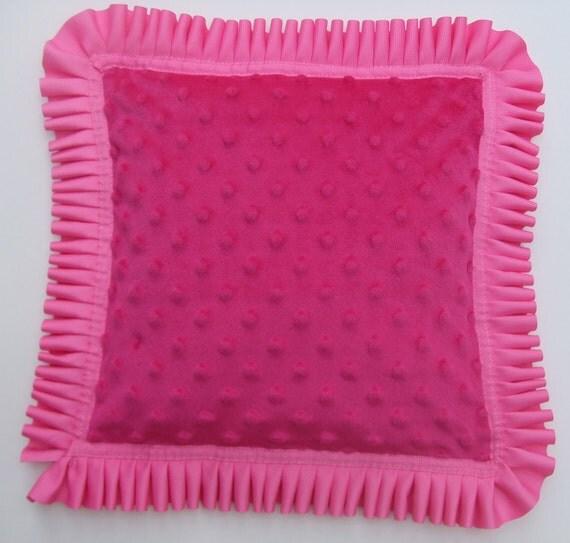 Minky Pink Pillow