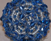 Blue and White Bucky Ball