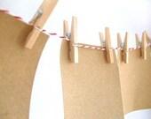 Mini Clothesline Kit - Red Bakers Twine, Mini Wood Clothespins // Treasury Pick