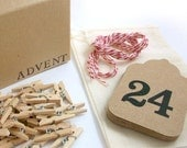 Original Advent Calendar Garland Kit - Kraft & Red Twine