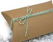 SALE! Kraft Pillow Boxes, Set of 5 - Small 3 x 3.25 - DESTASH
