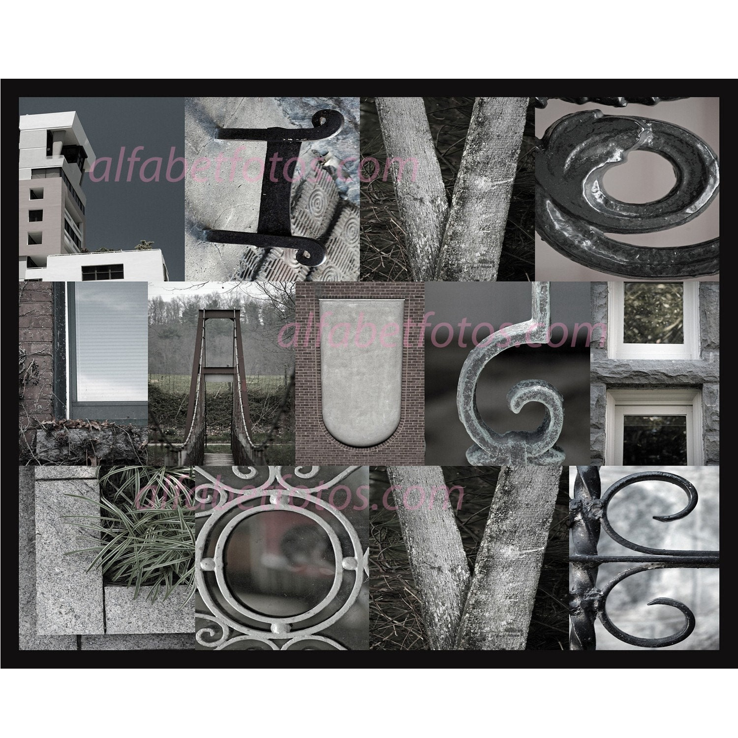 Alphabet Letter Photography Home Decor Wall Art by alfabetfotos