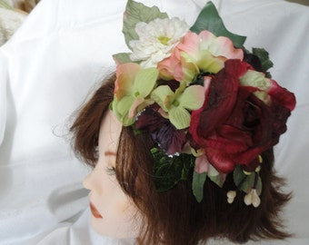 Bridal fascinator, silk flower corsage, wedding flowers, hair pin, hat embellishment, wrist corsage, brooch