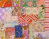 vintage fabric scrap bundle 56