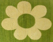 vintage bath towel (Cannon flower power in mustard and avocado)