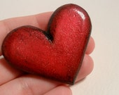 Heart on Your Sleeve - Upcycled Puffy Heart Brooch