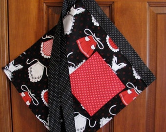 SALE: Half Apron Featuring Aprons And Polka Dots