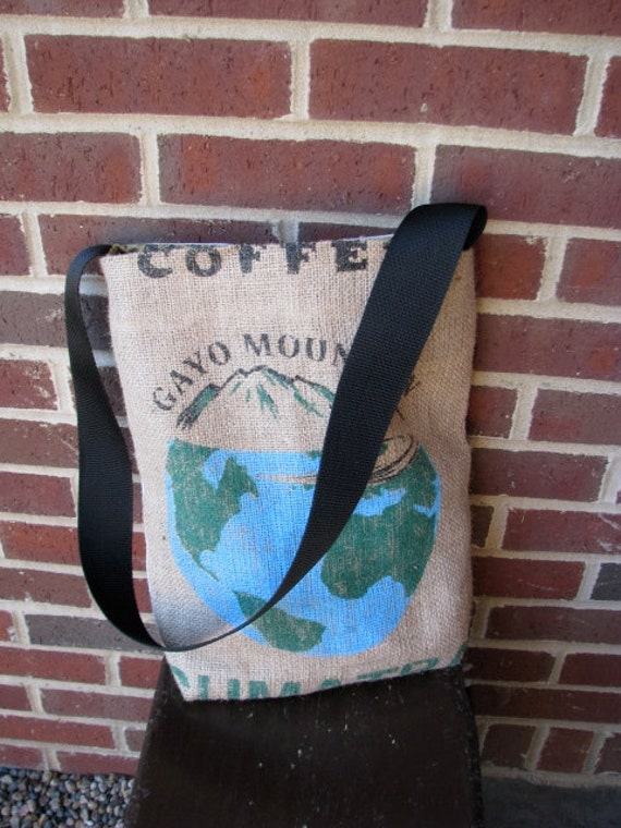 Recycled Coffee Burlap Tote - Sumatra/Gayo Mountain