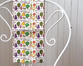 eat more vegetables -  tea towel - linen-cotton - kitchen towel