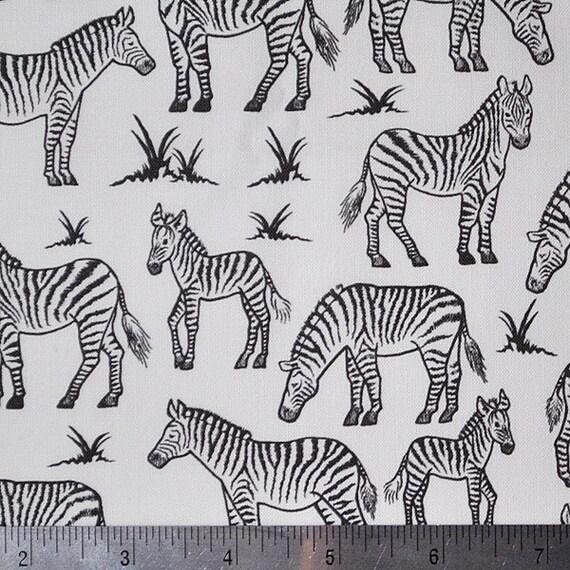 SALE - zebras - zebra fabric - original fabric - fat quarter
