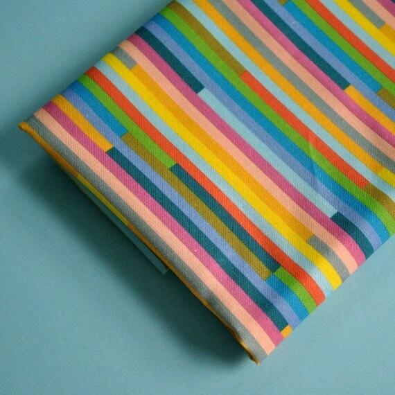 broken stripes - original fabric - fat quarter - striped fabric