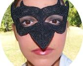 Steampunk black lace raven mask